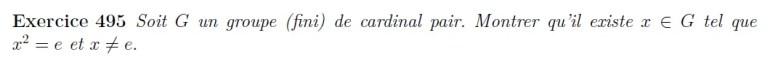 Groupe de cardinal fini pair a un carré neutre