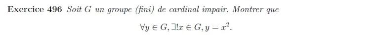 Groupe de cardinal impair