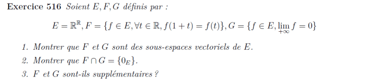 Espace vectoriel de fonctions