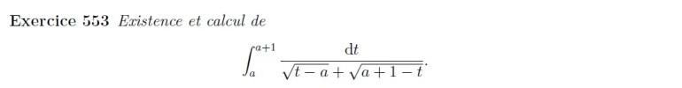 Calcul d'intégrale impropre de racine
