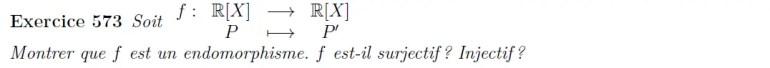 Endomorphisme de dérivation