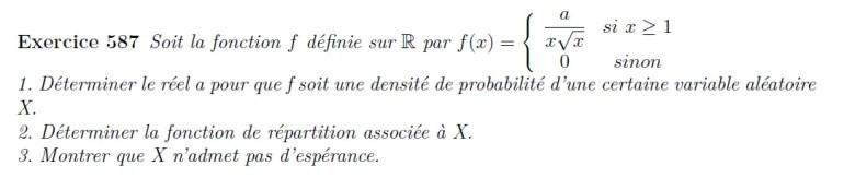 Variable aléatoire ECS