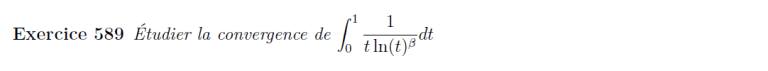 Convergence d'intégrale impropre