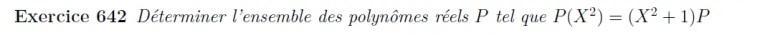 Equation polynômes