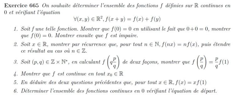 Equation fonctionnelle classique