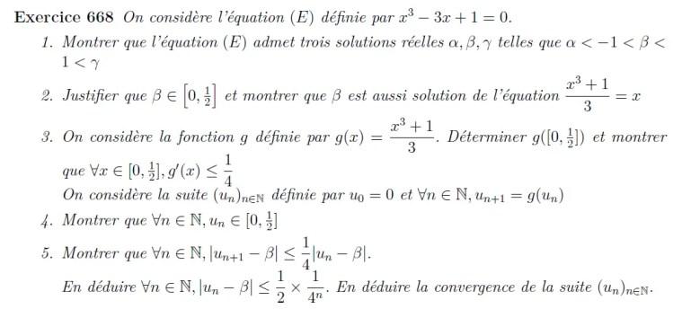 Convergence de suites définies par une fonction