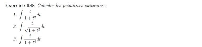Primitive de fractions