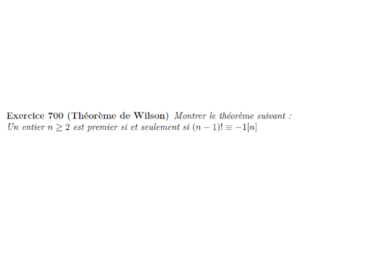 Théorème de Wilson