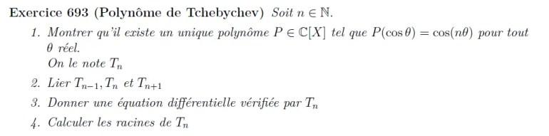 Polynôme de Tchebychev