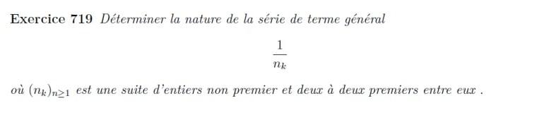 Convergence séries et nombres premiers