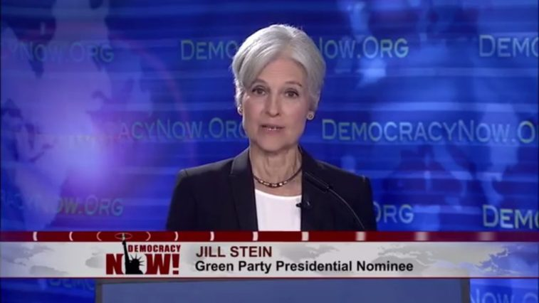 Jill Stein speaks on the Democracy Now! expanded debate.