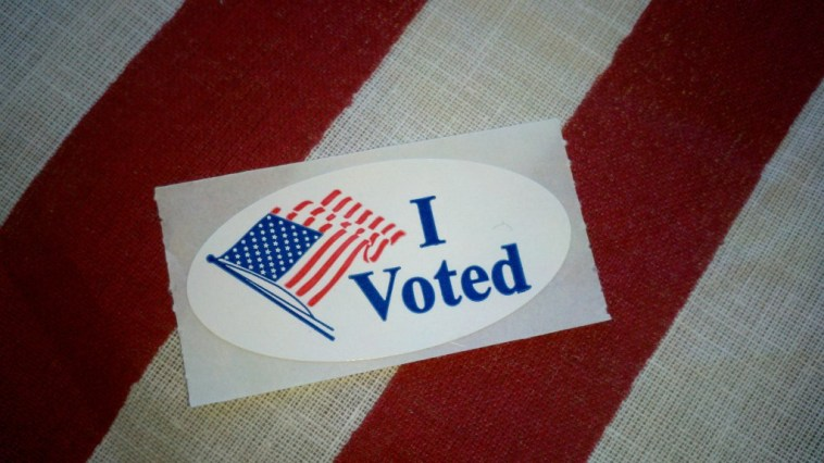 Image of I voted sticker.