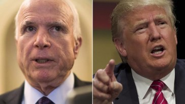 McCain and Trump