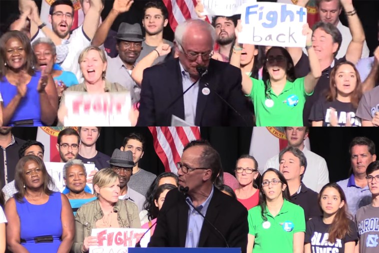 Bernie Sanders and Tom Perez speak at a Unity Tour stop in Miami, FL