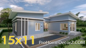 Cool House Plans 15x11 Meter 49x36 Feet 3 Beds