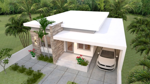 House Layout Design 10x13 Meter 33x43 Feet 3 Beds 4