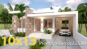House Layout Design 10x13 Meter 33x43 Feet 3 Beds
