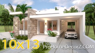 House Layout Design 10x13 Meter 33x43 Feet 3 Beds