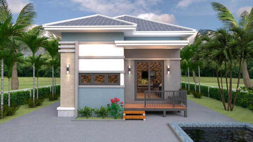 Modern Tiny House 6x8 Meter 20x26 Feet Hip Roof 2
