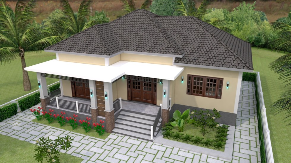 One Story House Plans 12x11 Meter 39x36 Feet 3 Beds 2