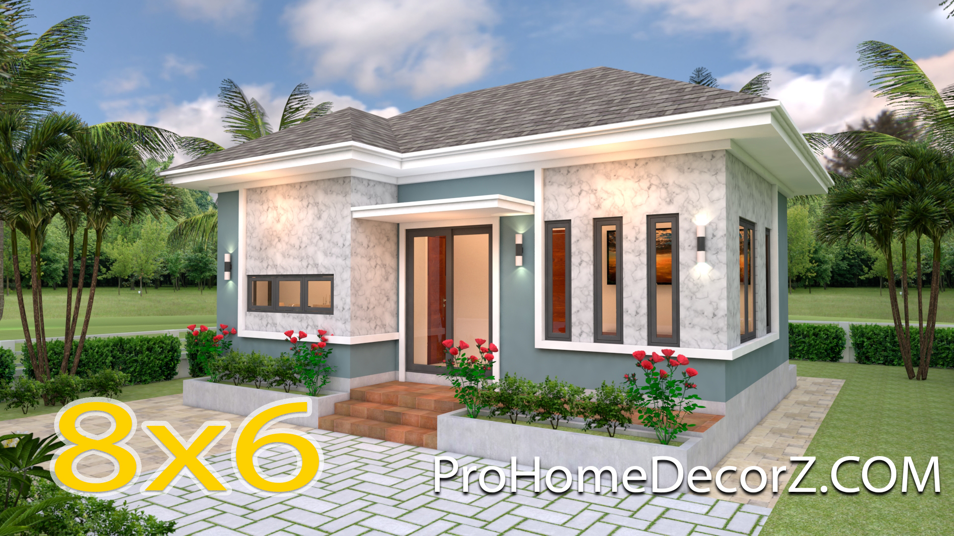 Simple Bungalow House Designs 8x6 Meter 26x20 Feet - Pro Home DecorS
