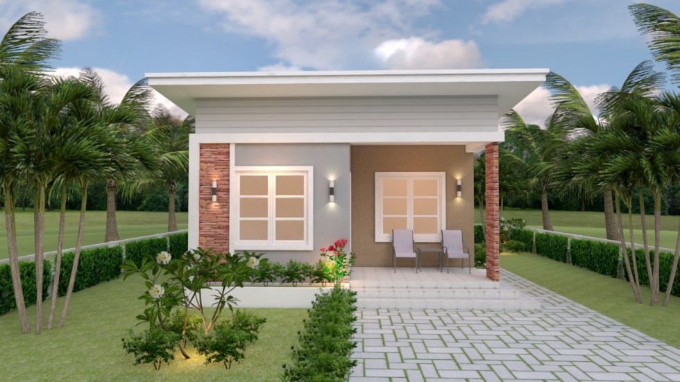 Single Floor House Designs 6.5x8 Shed Roof 2