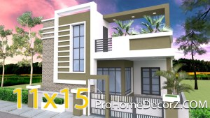 Single Level House Plans 11x15 Meters 36x49 Feet 3 beds