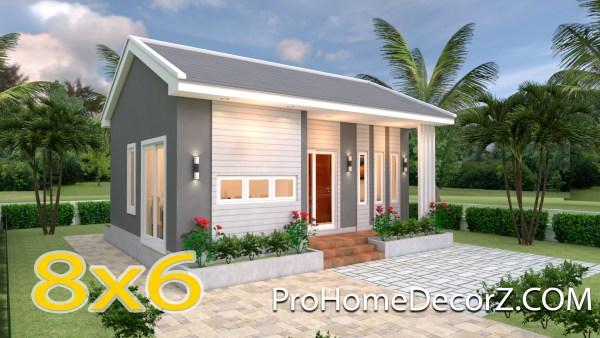 Small 2 Bedroom House 8x6 Meter 26x20 Feet