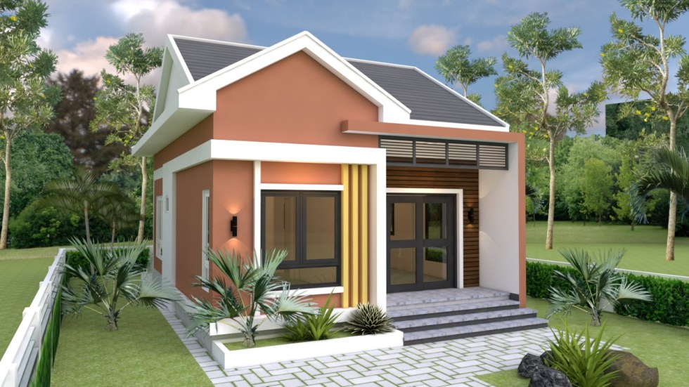 Small Bungalow 6.5x8.5 with 2 Bedrooms Gable roof 1