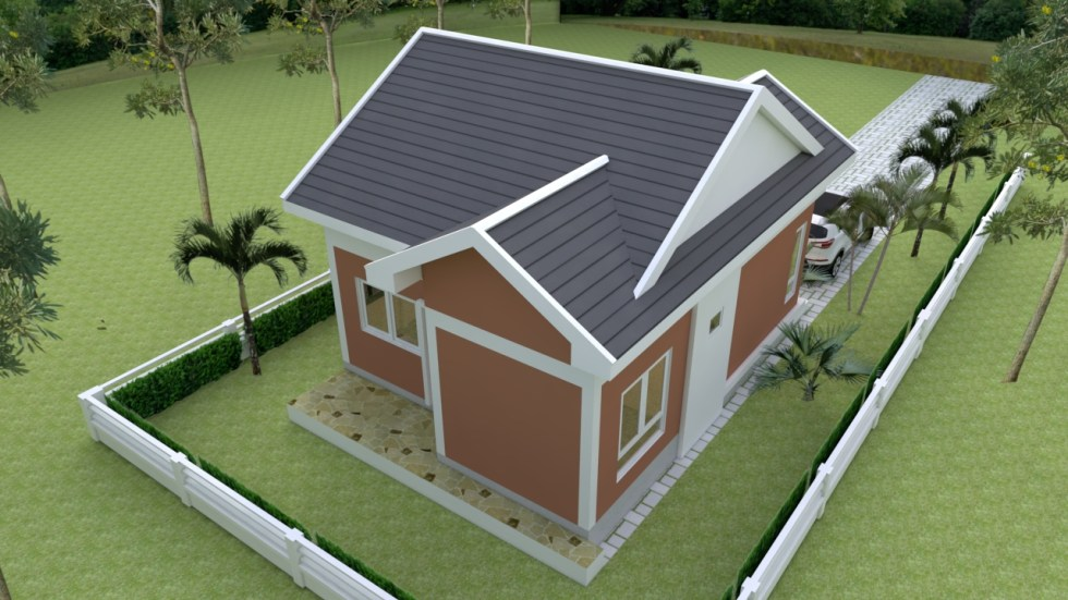 Small Bungalow 6.5x8.5 with 2 Bedrooms Gable roof 4