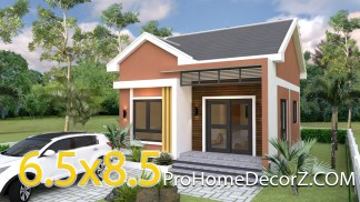 Small Bungalow 6.5x8.5 with 2 Bedrooms Gable roof
