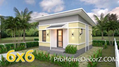 Small Bungalow 6x6 with Shed Roof