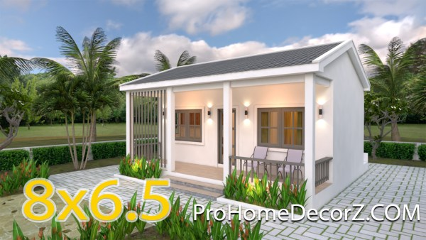 Small Cottage Designs 6.5x8 with Gable Roof