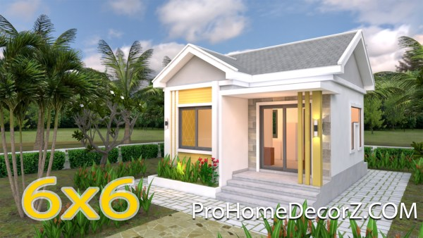 Small Cottage Designs 6x6 Meters 20x20 Feet