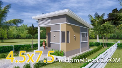 Small Luxury Homes 4.5x7.5 with Shed roof