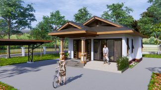 Cottage House Plans 8x12 Meter 26x40 Feet 2 Beds