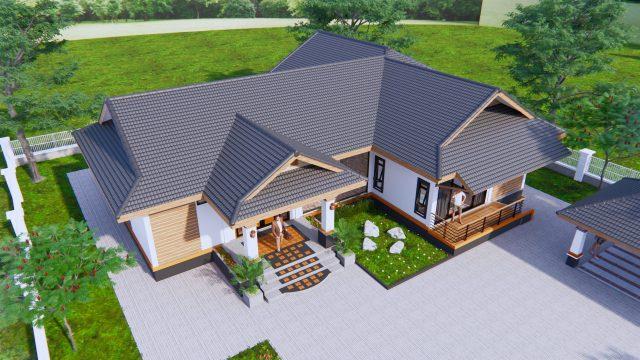 Home Design Plans 19x15 Meter 63x49 Feet 3 Beds 1