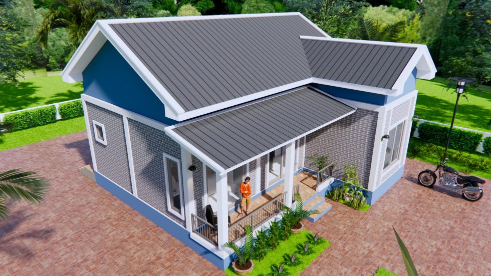 House Architecture 9x9 Meters 30x30 Feet 2 Beds 3