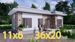 Modern Home Design 11x6 Meters 36x20 Feet 3 Beds
