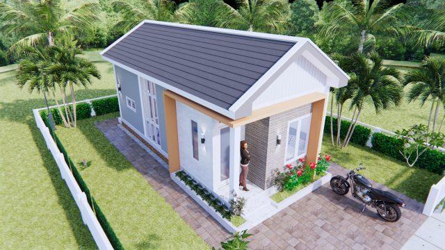 One Floor House Plans 4x9 Meter 13x30 Feet 2