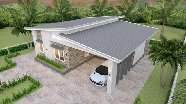 Single Floor House Plans 12x11 Meter 39x36 Feet 3 Beds 1