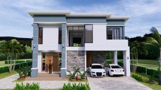 Home Plans 11x8 Meter 36x26 Feet 3 Beds 2