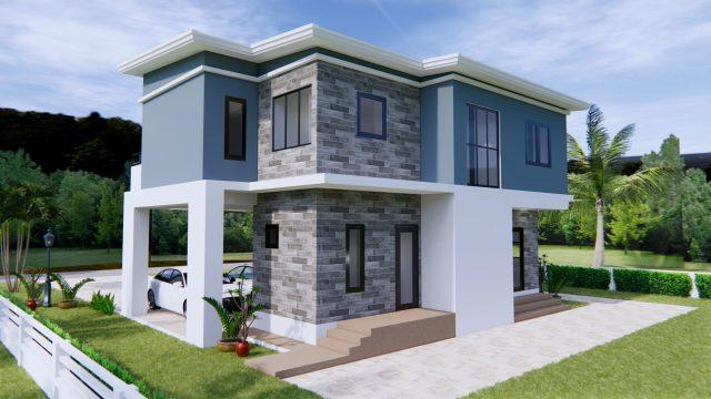 Home Plans 11x8 Meter 36x26 Feet 3 Beds 5