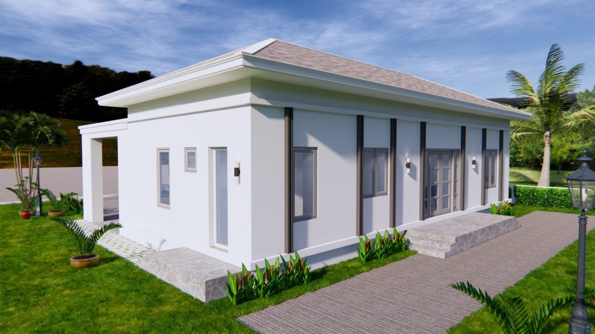 House Plans 14x11 Meter 46x36 Feet 3 Beds 5