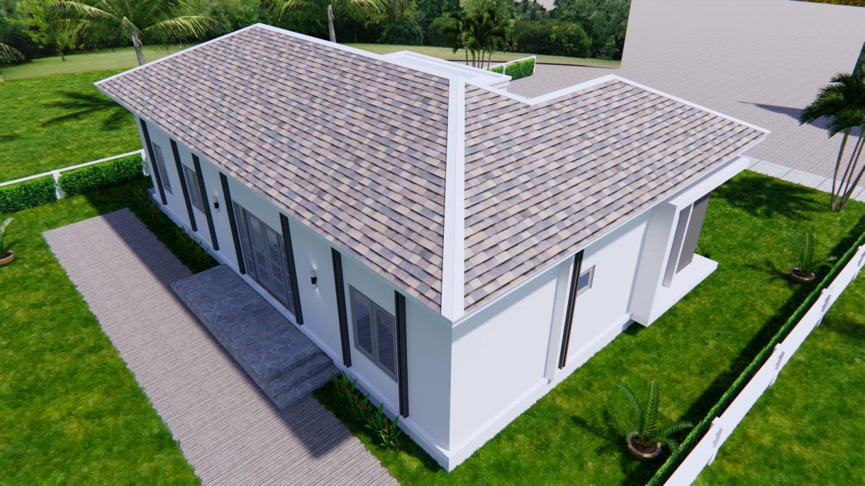 House Plans 14x11 Meter 46x36 Feet 3 Beds 7