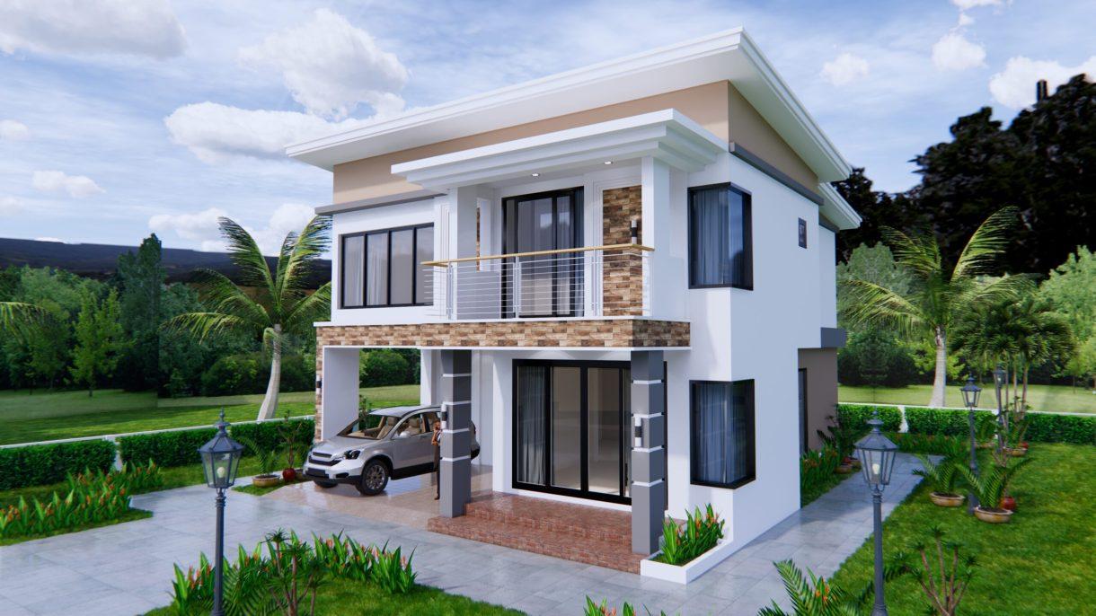 House Plans 9x11 Meter 30x36 Feet 4 Beds 3