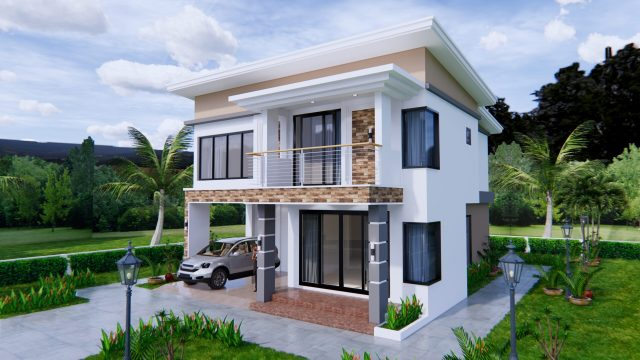 House Plans 9x11 Meter 30x36 Feet 4 Beds 3