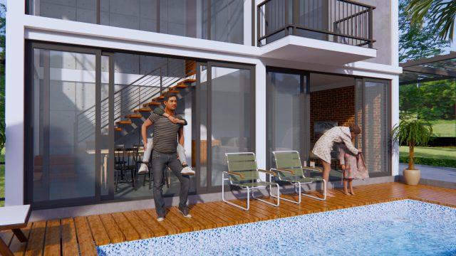 Lake House Plans 13x11 Meter 44x36 Feet 2