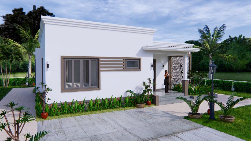 Online House Design 12x9 Meter 40x30 Feet 2 Beds 3