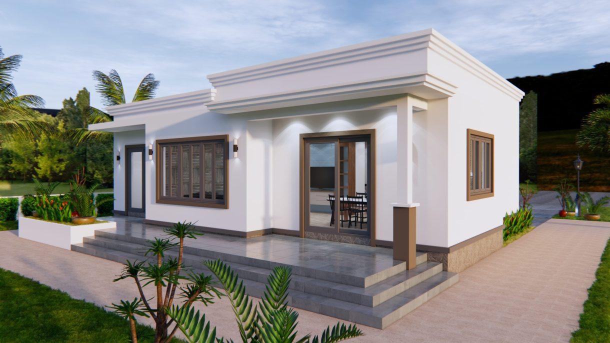 Online House Design 12x9 Meter 40x30 Feet 2 Beds 7